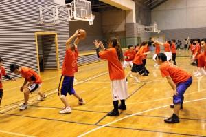独自にアレンジした、バスケットボールで誰もが楽しめるメニュー
